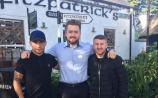 Boxers Carl Frampton and Paddy Barnes stop by Fitzpatrick's Bar & Restaurant