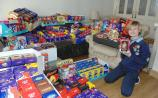 Dundalk lad collects MASSIVE haul of Easter eggs for a great cause
