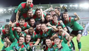 Dundalk man plays a key part in Glentoran's Irish Cup final win