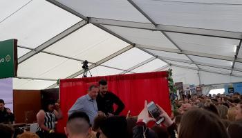 WATCH  Crowds erupt for Love Islands Greg