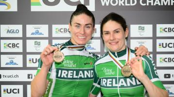McCrystal and Dunlevy win bronze medals at Para-Cycling World Championships in Brazil