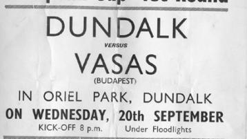 Gasps heard as floodlights turned on for Vasas game - 1967