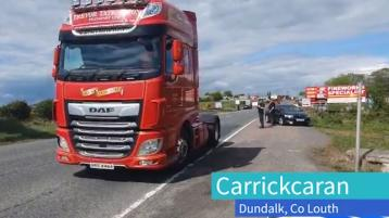 WATCH: Dundalk garda Covid-19 checkpoint