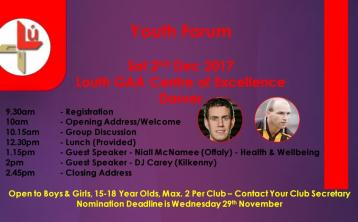 All-Ireland winner to guest speak at Louth GAA forum