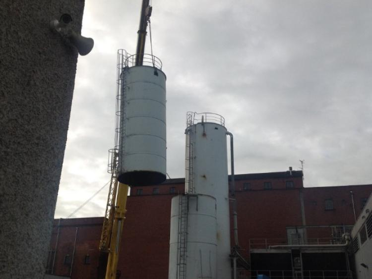 Changing skyline in Dundalk as silos changed at Great Northern