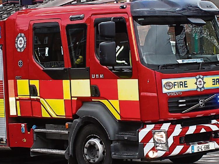 emergency services at scene of crash off m1 at dundalk